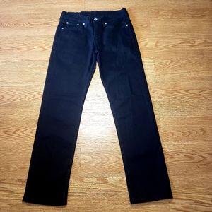 Levis 514 Mens Denim Black Jeans Straight 29x30